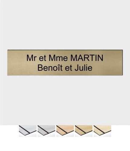 Une plaque de boîte aux lettres pour identifier clairement une boîte